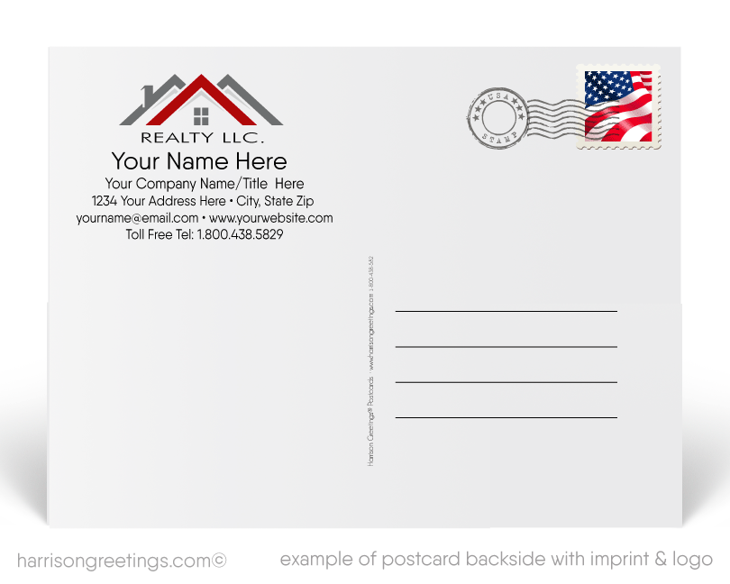 Neighborhood Happy 4th of July Postcards for Realtors