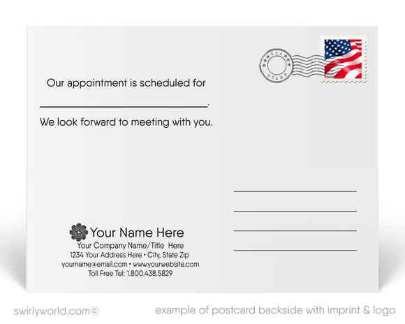 A Friendly Reminder Appointment Insurance Postcards
