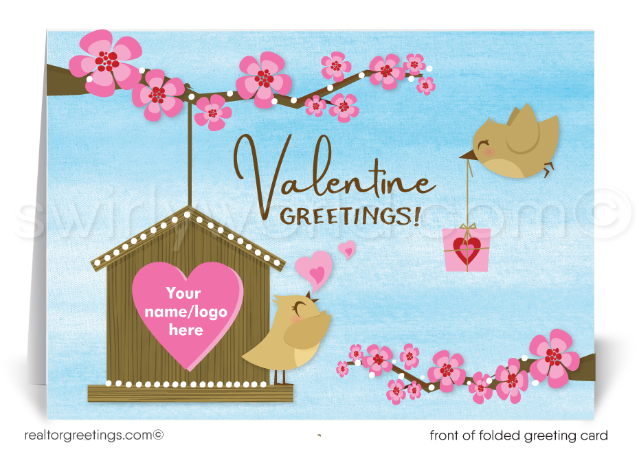 Cute House Client Happy Valentine's Day Cards for Realtors®