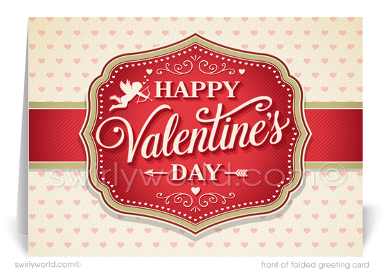 Professional Business Happy Valentine's Day Cards for Clients