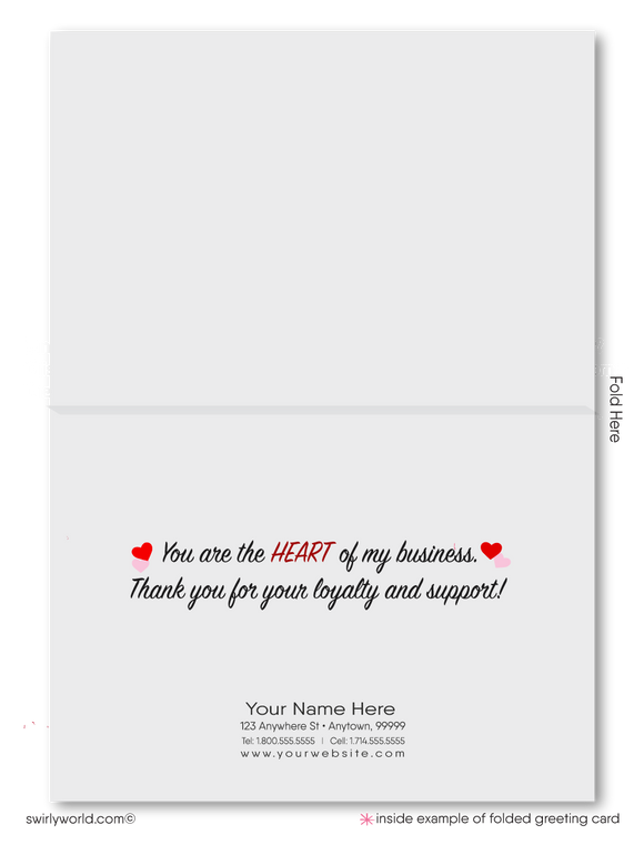Cute Corporate Business Valentine's Day Cards for Customers