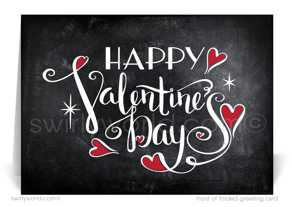 Business Professional Corporate Valentine's Day Cards for Clients