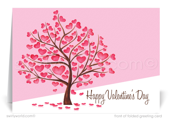 Professional Business Corporate Valentine's Day Cards for Clients