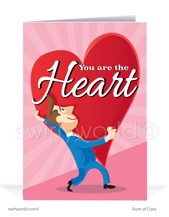 Professional Corporate Business Humorous Valentine's Day Cards