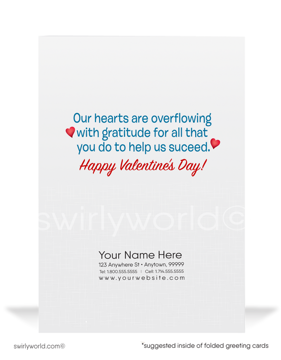Professional Corporate Business Happy Valentine's Day Cards