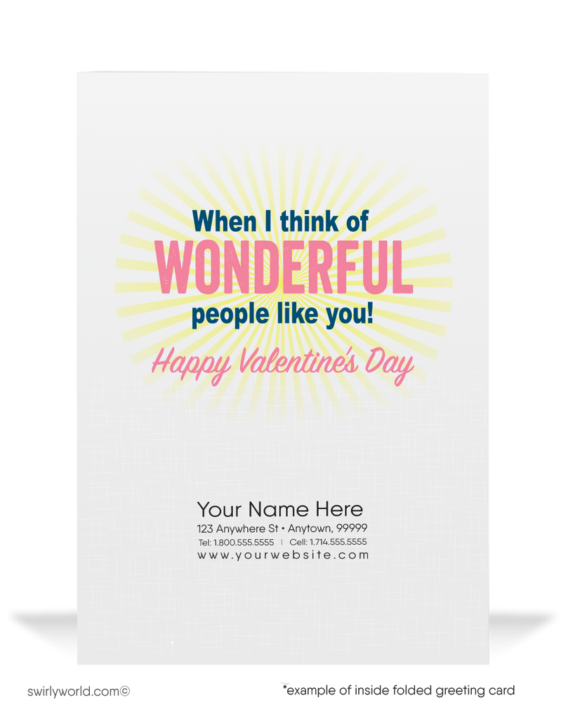 Funny Cartoon Businessman Valentine's Day Cards For Customers