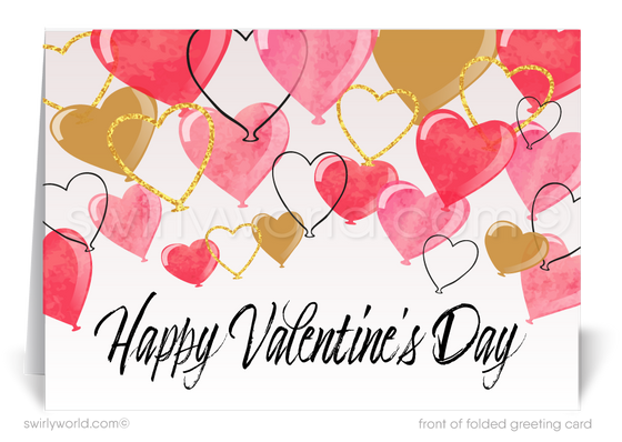 Professional Business Valentine's Day Cards for Customers