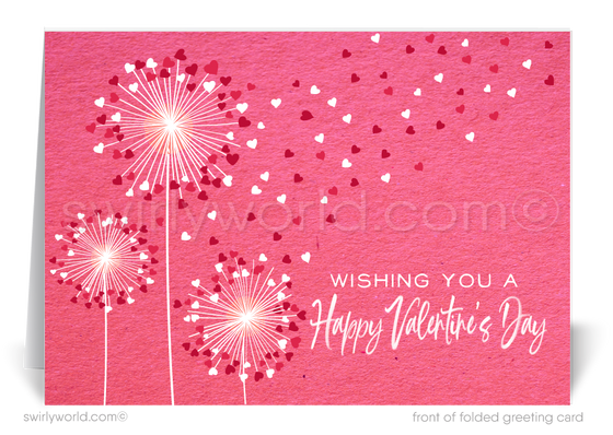 Whimsical Hearts Business Valentine's Day Cards for Customers