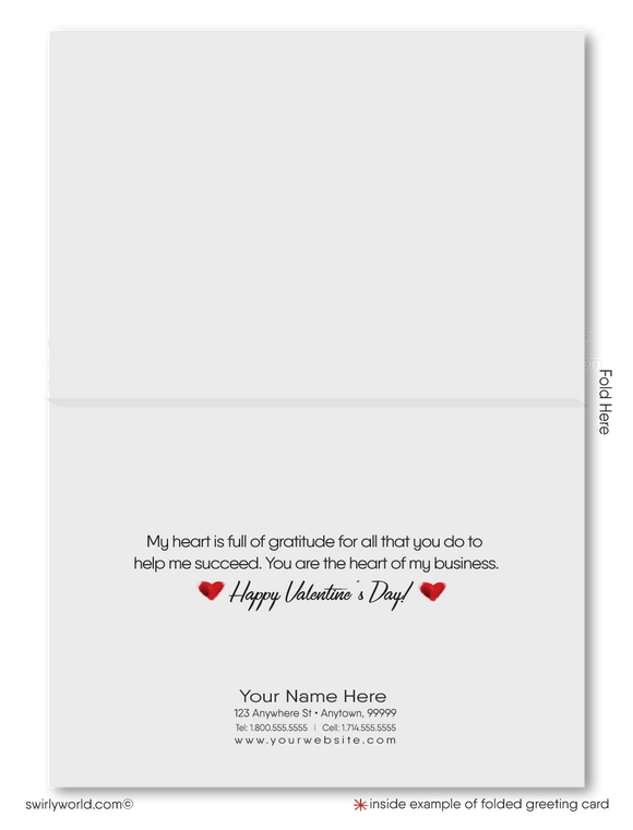 Modern Professional Business Valentine's Day Cards for Clients