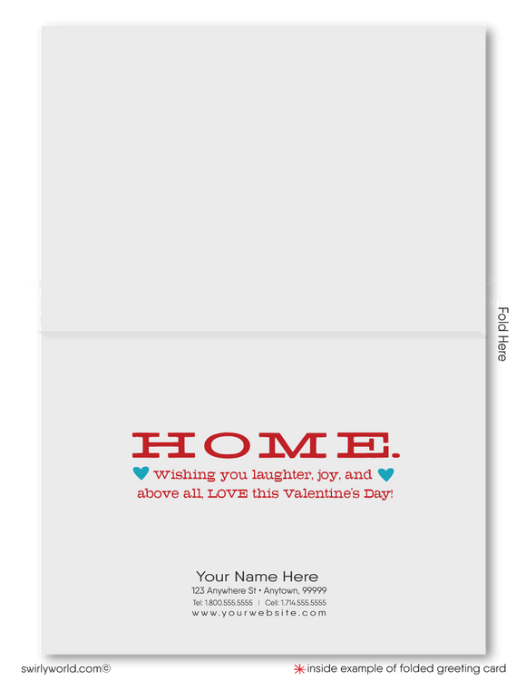 Cute Client House Happy Valentine's Day Cards for Realtors®