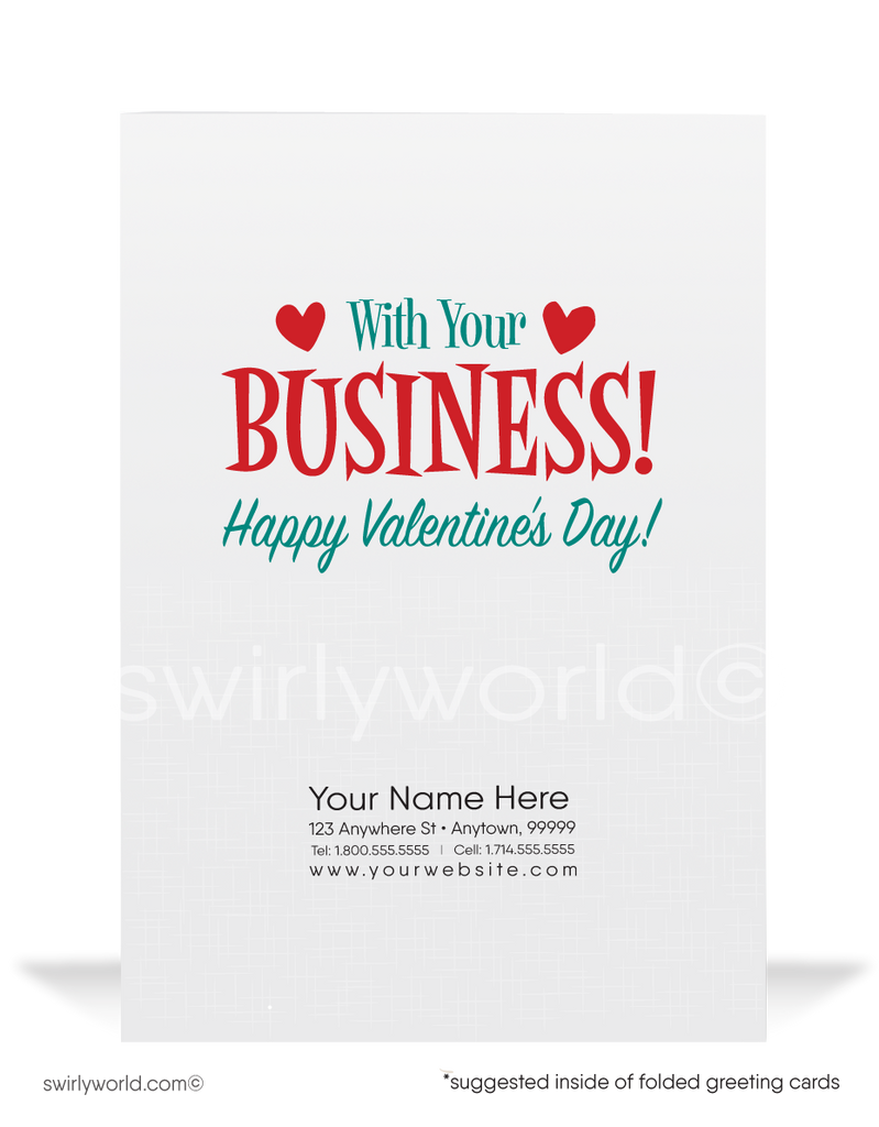 """In Love With Your Business"" Funny Corporate Valentine's Day Cards"