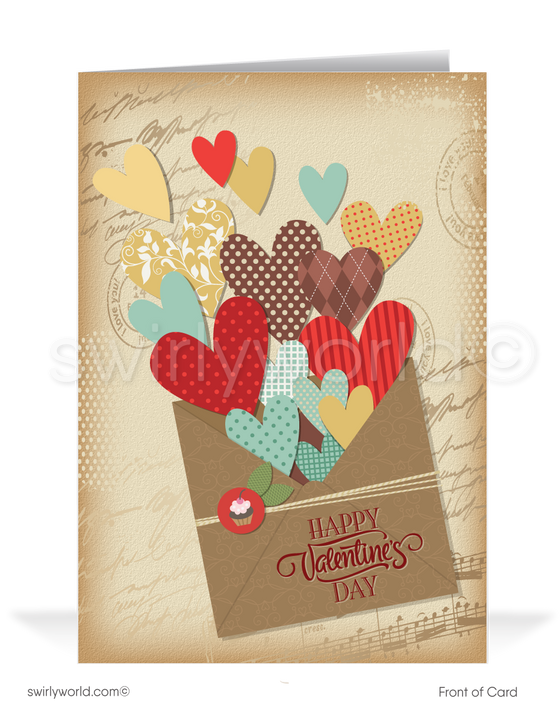 Corporate Professional Business Valentine's Day Cards for Clients