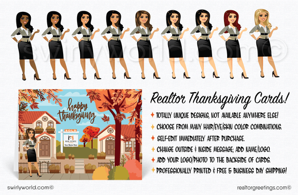 Thanksgiving cards for realtors and real estate agents