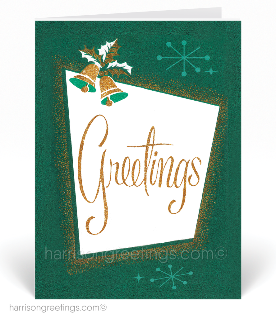 1950s Retro Vintage Christmas Holiday Cards