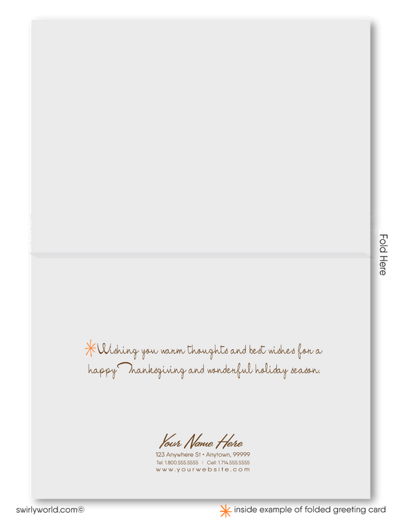 Retro Mid-Century Modern Style Happy Thanksgiving Greeting Cards