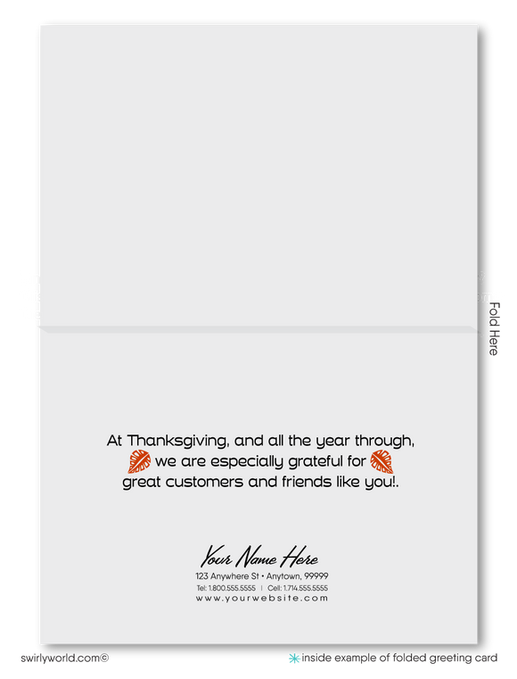 Retro Atomic Mid-Century Modern Happy Thanksgiving Greeting Cards