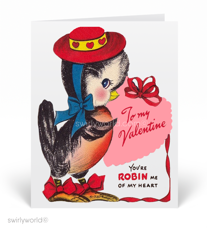 1950's Cute Vintage Bird Valentine's Day Cards