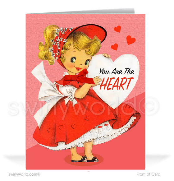 Cute 1950's Vintage Mid-Century Retro Valentine's Day Cards for Women
