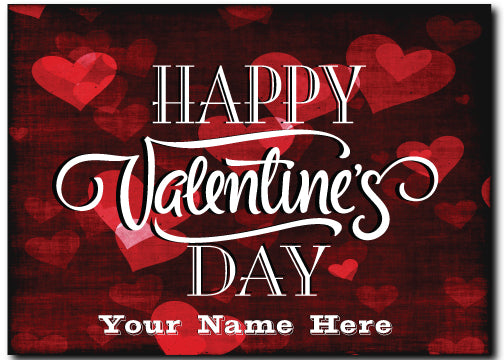 Corporate Client Valentine's Day Postcards