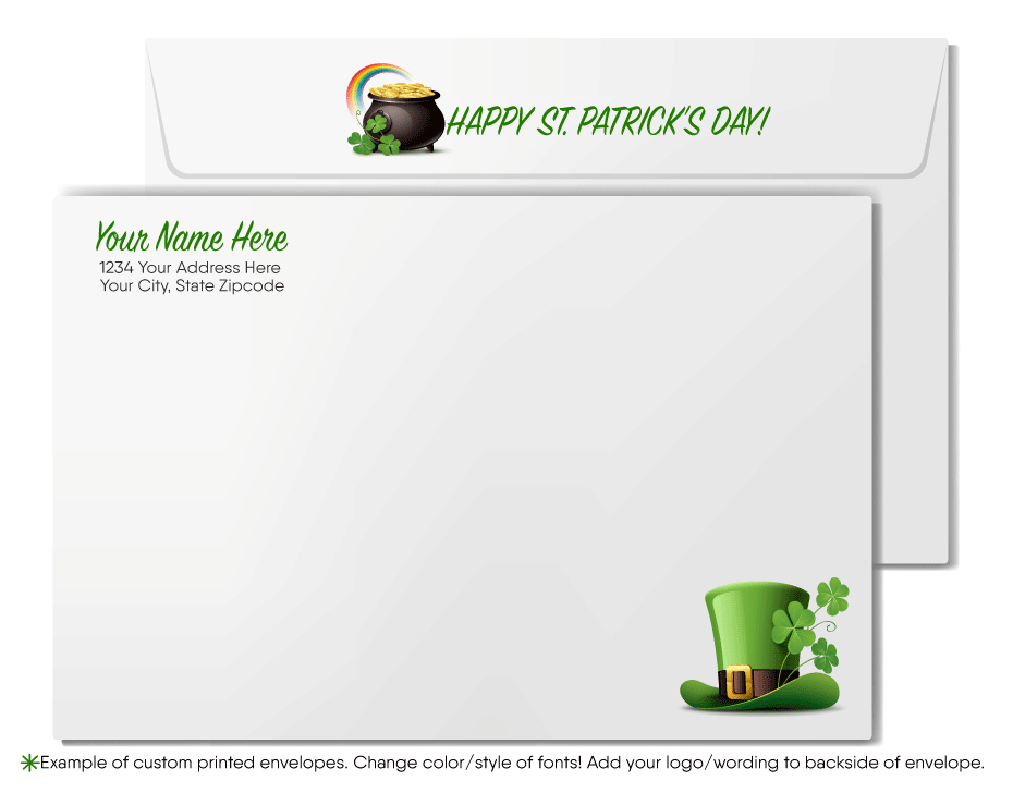 Customer Happy St. Patrick's Day Cards for Business