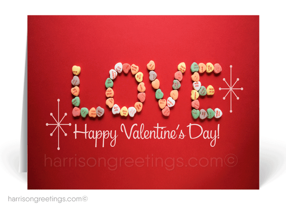 Sweet Tarts Valentine's Day Cards for Clients
