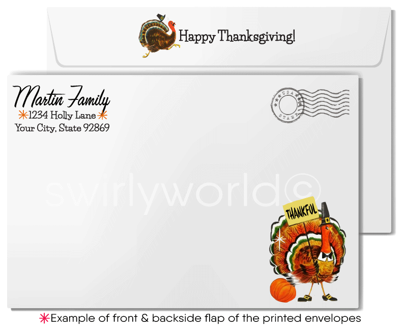 Funny Turkey Thanksgiving Cards for Customers