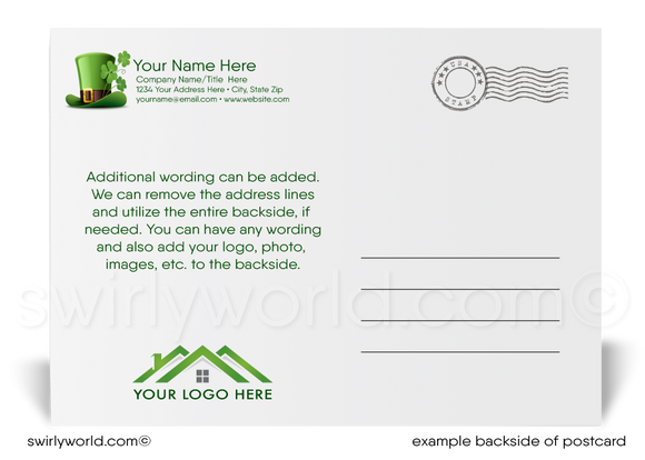 Lucky Horseshoe Corporate Business Happy St. Patrick's Day Postcards