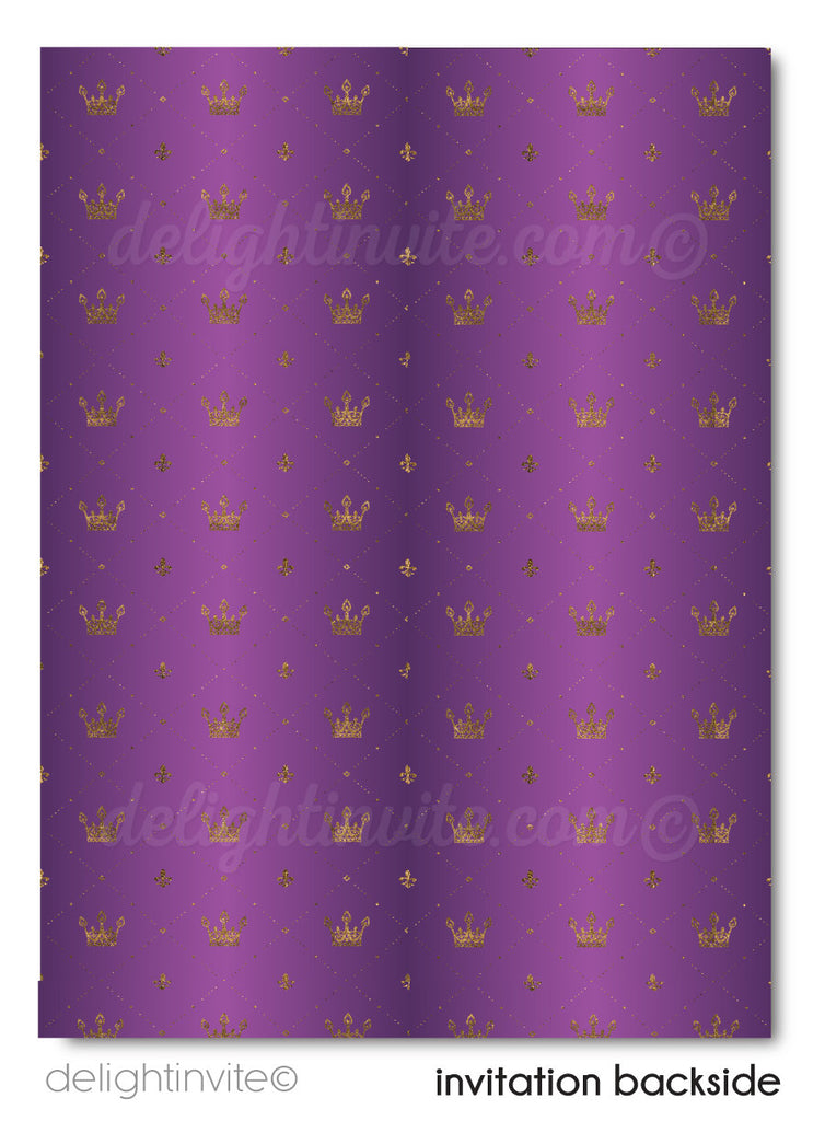 Purple and Gold Royal Wedding Save the Date Cards, Formal Traditional Save the Date theme, Vintage Royal Wedding Save the Date Ideas