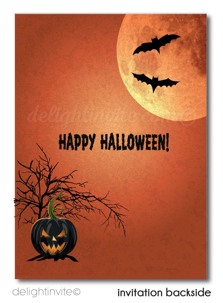 Haunted House Halloween Party Invitations Printed Child Friendly Birthday Mansion Non Scary