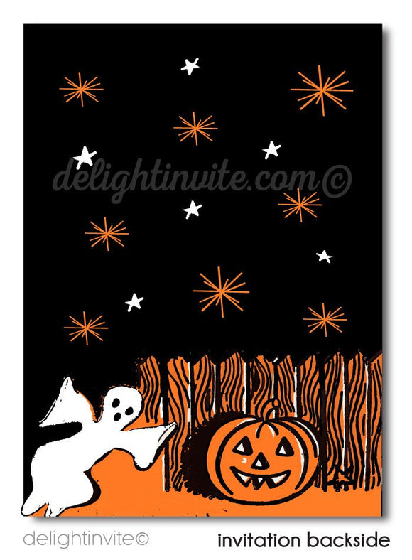 Vintage Child-Friendly 1950's Halloween Invitations