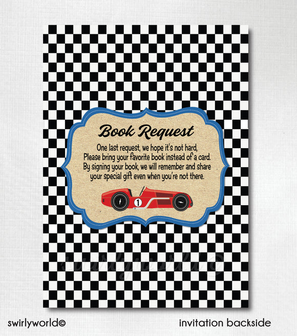 Retro Vintage Planes, Trains, and Automobiles' First Birthday Invitation Digital Download
