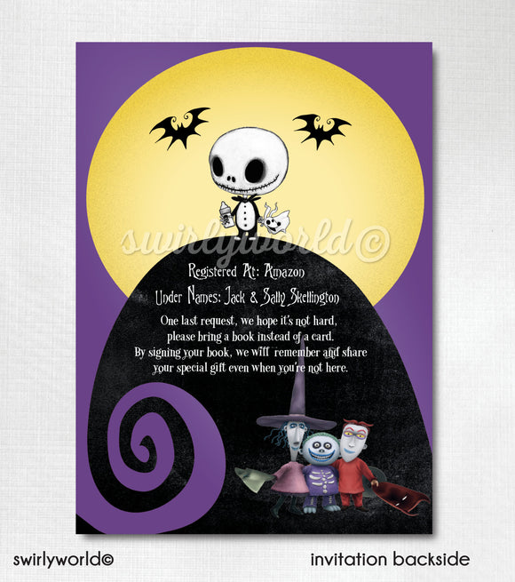 Nightmare Before Christmas Baby Shower Invitation and Thank You Card Suite Digital Download Suite. Jack and Sally Baby Shower Digital Design