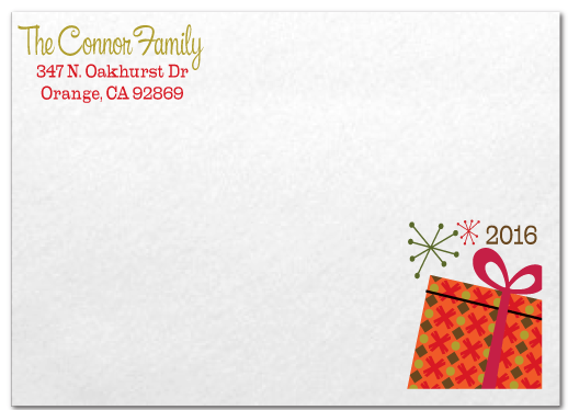 Retro Modern Merry Christmas Holiday Photo Cards
