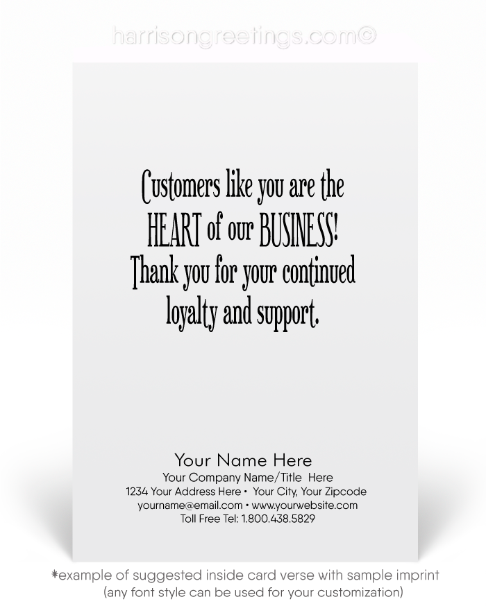 Business Valentine's Day Cards for Clients