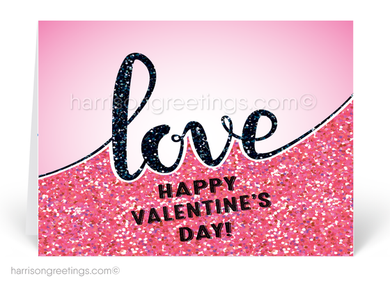 Pink Love Valentine's Day Cards for Clients