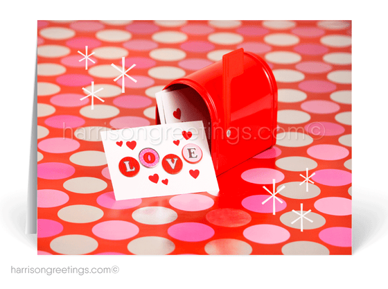 Whimsical Retro Valentine's Day Cards for Clients