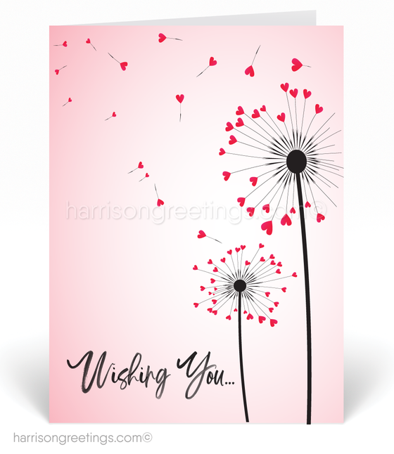 Whimsical Hearts Valentine's Cards for Clients