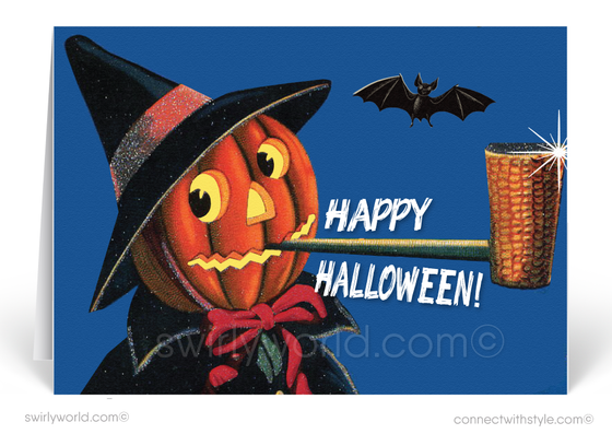 art deco vintage halloween images