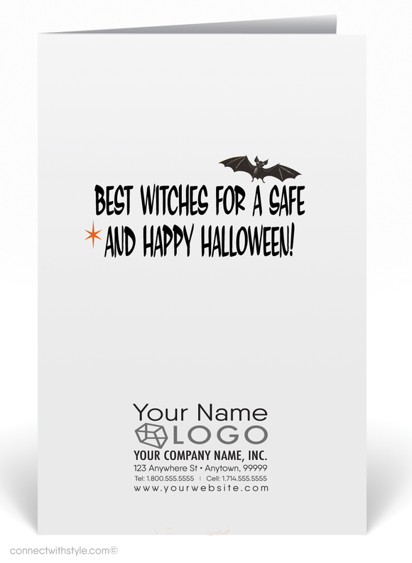 Vintage 1960's Mid-Century Mod Retro Halloween Card Digital Download