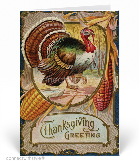 1920's Vintage Turkey Thanksgiving Greeting Cards