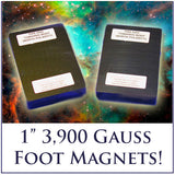 One Inch 3,900 Gauss Magnets for Powerful Chi - FREE Memory Foam Pads included!