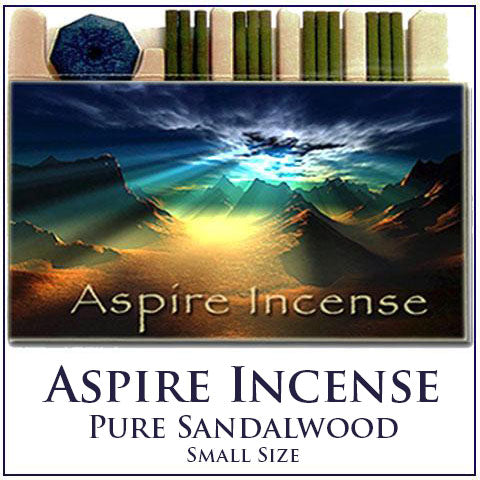 Aspire Incense Sandalwood - Small Contains 12 Sticks