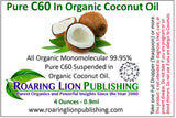 C60 IN COCONUT OIL - BUCKMINSTERFULLERENES - NEW REVOLUTIONARY YOUTH ELIXIR! (4 Ounces)
