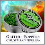 Greenie Poppers! - 400 Chewable Chlorella/Spirulina Mini-Tables