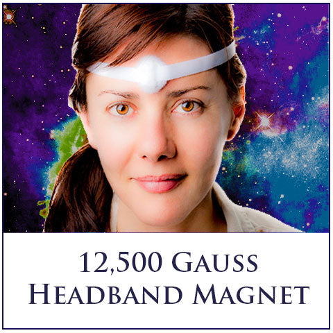 Magnetic Headband 12,500 Gauss Rare Earth Magnet - Turn On Your Spiritual Brights!