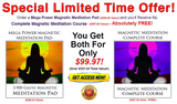 "Magnetic Meditation Pad with FREE ""Magnetic Meditation Instant Download Course!"""