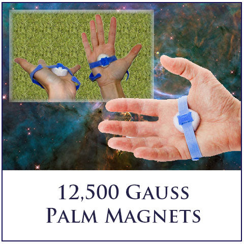 Palm Magnets - 12,500 Gauss Super Powerful Rare Earth Magnets (One Pair)