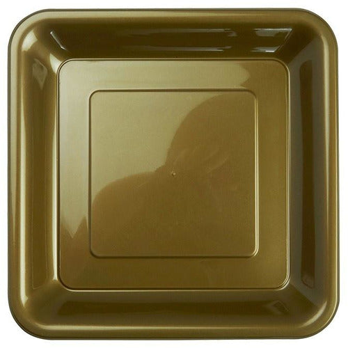 Gold Square Snack Plates 20pk
