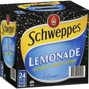 Schweppes Lemonade Cans 24 x 375ml