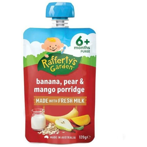 Rafferty's Garden Porridge 6 Mths+ 120gms - Pear, Banana, Mango